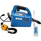 Newtry Treuil électrique avec télécommande sans fil, système de protection contre les surcharges, 220V, 11,8m de câble, 1500W, charge max de 300kg