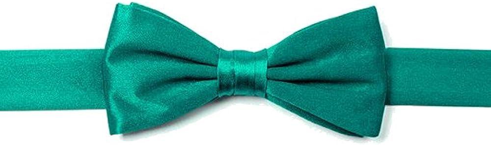 Boys 100% Silk Teal Pre-Tied Bow Tie Neckwear