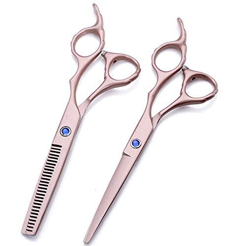 WYGC Scissors Set Ciseaux Coiffure 6,0Pouces,Ciseaux de Cheveux,Tranchant Ciseaux De Cheveux De Coiffeur pour Salon de Coiffure,Salon et Utilisation à la Maison (Color : Rose Gold)