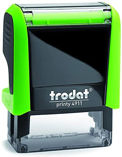 Trodat 4911 Printy Sello Fórmula Comercial con Texto Catalán PAGAT, entintaje automático, Tamaño de la Placa de Texto 37 x 14 mm, Rojo