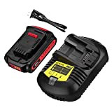 20V Replacement Battery and Charger Compatible with Dewalt 20V Max XR Tools DCB205 DCB204 DCB206 DCB205-2 DCB200-2