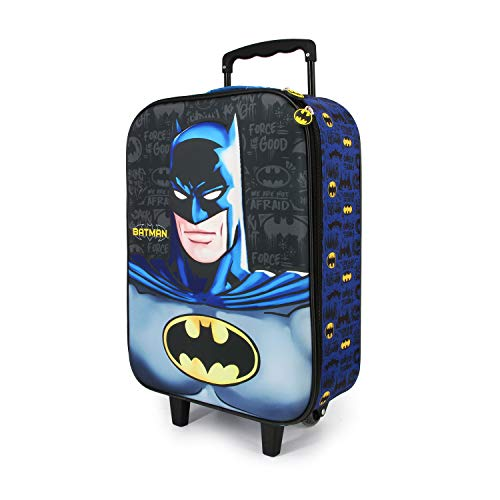 Karactermania Batman Knight-Soft 3D Trolley Suitcase Children's Luggage, 52 cm, 23 liters, Multicolour