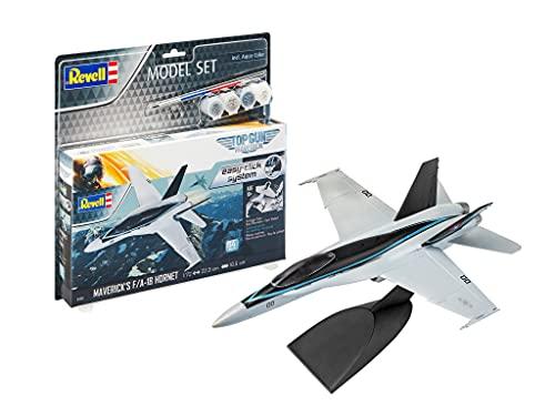 Avião Model Set Maverick F/a-18 Hornet Top Gun 1/72 Revell Plastimodelismo