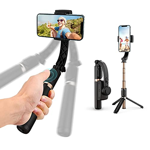 Gimbal Stabilizer with Selfie Stick for iPhone: Portable Handheld Gimble with Tripod & Remote for...