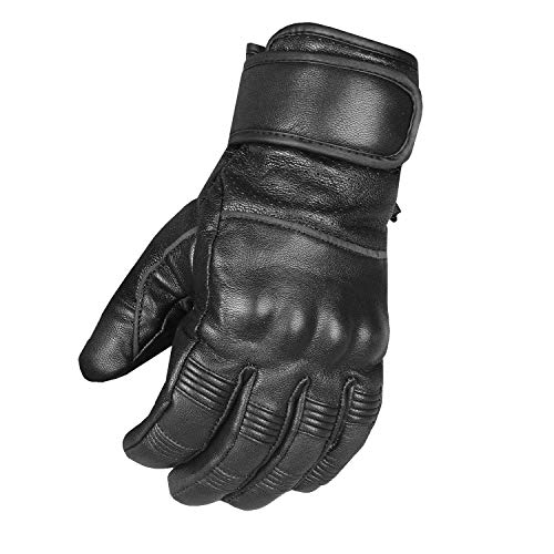Men's Motorcycle Premium Perforated Leather Gel Palm Biker Cruiser Gloves M