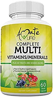 Sponsored Ad - Multivitamins / Minerals Capsules with Zinc and Premium 42 Fruits and Veggies Blend for Immune Support Dail...