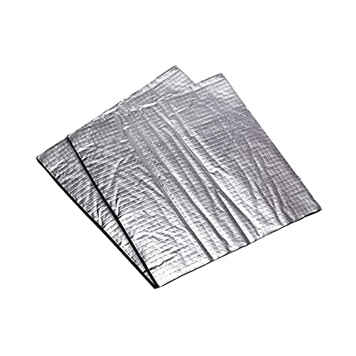 Morton3654Mam Pack of 2 3D Printer Heated Bed Insulation Mat, 400 x 400 x 7 mm Foam Film Self-Adhesive Insulation Cotton Sticker Hotbed Thermal Pad for 3D Printers