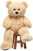 CYBIL HOME Giant Teddy Bear Soft Plush Bear Stuffed Animal for Girlfriend Kids,Beige,35 Inches