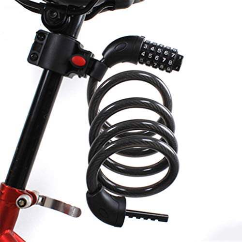 YUYAXPB fietsslot, sterke fietskettingslot voor mountainbike motorfiets scooter grills buiten, geen sleutels vereist