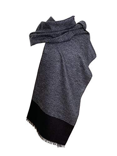 Heren sjaal zwart, heren sjaal hoogwaardig 100% zijde van Pietro Baldini
