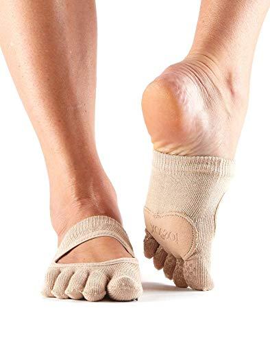 Toesox Full Toe Releve Calcetines de Yoga, Unisex Adulto, Nude, XS