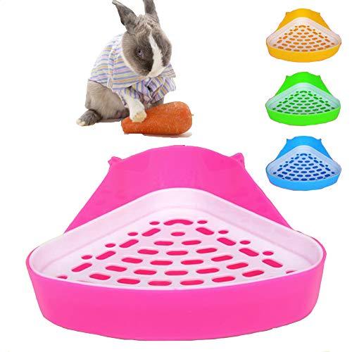 MINGZE Toilettes pour Animaux domestiques, Bac à litière de Coin Potty Trainer, pour Petit Rat, Hamster et Cochon d'Inde (Couleur aléatoire)