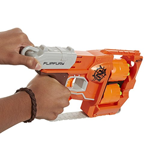 Nerf Zombie Strike FlipFury Blaster,Orange, Etc.