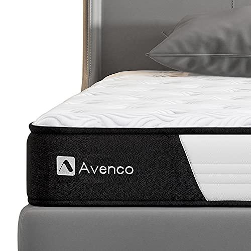 Avenco 5-Zonen Matratze 180x200, Hybrid Federkernmatratze mit Memory-Schaum, Taschenfederkern Matratze 180x200 H3 mit ausgezeichneter Unterstützung, 180 x 200 cm, Höhe 18 cm, Weiß