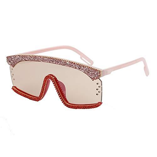 NOBRAND Gafas De Sol De Una Sola Pieza Integrada Gafas De Hombres Y De Mujeres Colorido Multicolor De Gafas Gafas De Moda para Decorar tu Propio diseño (Color : Pink)
