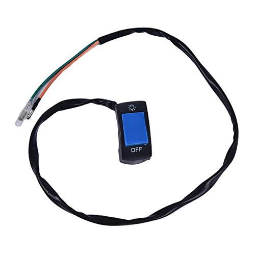 WANGXINQUAN Interruptor de la Motocicleta 1Pcs 22mm Motocicleta On-Off Botón Push Switch Interruptores del Manillar (Color : Azul, Size : Gratis)