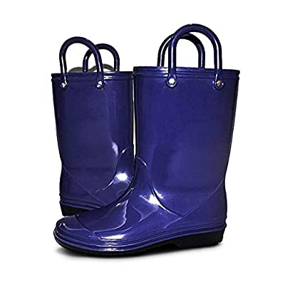 Amazon - Save 40%: Kids Rain Boots of Girls and Boys with Easy-on Handles(Toddler/Little Ki…