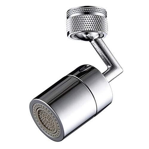 Grifo filtro salpicaduras universal Grifo filtro salpicaduras antisalpicaduras espuma enriquecida con oxígeno filtro de malla cabezal giratorio 720° Aireador pulverizador filtro,24mm
