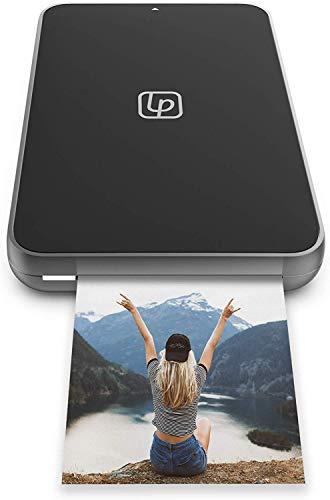 Lifeprint Ultra Slim Impresora instantánea portátil Bluetooth de Fotos, Y vídeos, aplicación de Redes sociales para iOS y Android, Película Adhesiva de 2X3 Zink Zero Ink, Negro