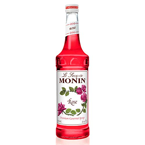 Monin - Rose Syrup, Elegant and Subtle, Great for Cocktails, Mocktails, and Soda, Gluten-Free, Vegan, Non-GMO (750 Milliliters)