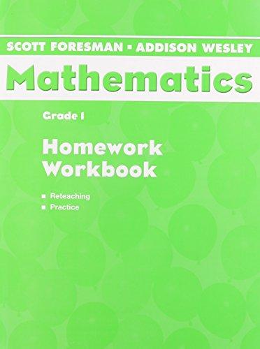 Scott Foresman Addison Wesley Math 2005 Homework Workbook Grade 1