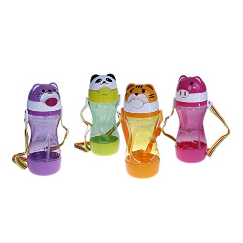 Srfghjs Thermoskanne 1 stück niedlich Baby Kinder Straw Cup Trink Wasser saft Tasse Flaschen Kinder Geschenk