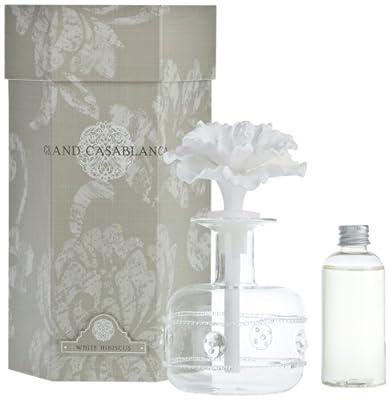Zodax Grand Casablanca Porcelain Diffuser, White Hibiscus
