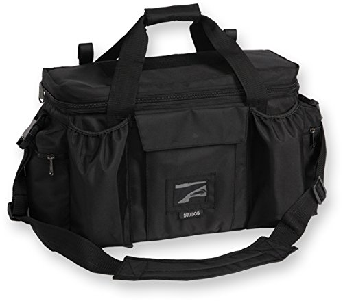 Bulldog Cases Extra Large Deluxe Black Police & Shooters Range Bag with Strap