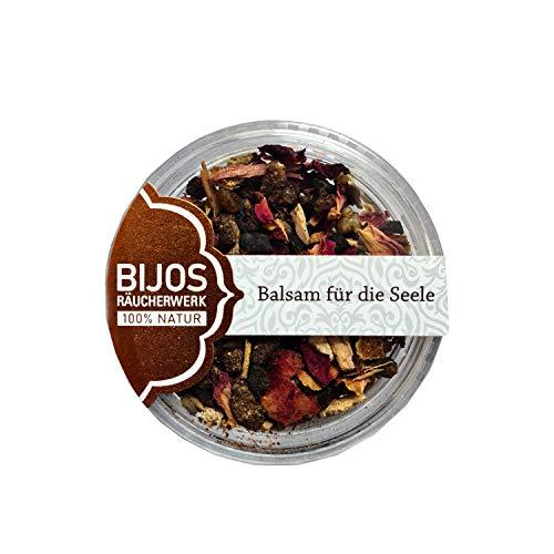 Bijos Räuchermischung Räucherwerk im 50 ml PS-Glas Balsam für die Seele