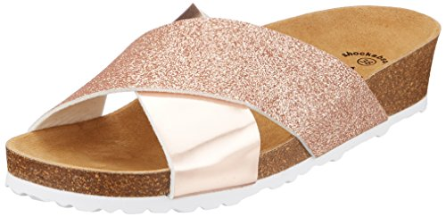 Lico BIOLINE PRIME Damen Pantoletten, Rose/ Glitter, 36 EU