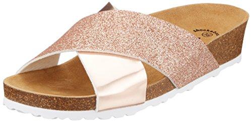 Lico Damen Bioline Prime Pantoletten, Pink (Rose/Glitter), 40 EU
