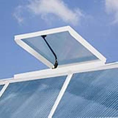 RION Dachfenster Dachlucke für Gewächshaus Sun Room Weiß // Belüftung Wintergarten & Treibhaus