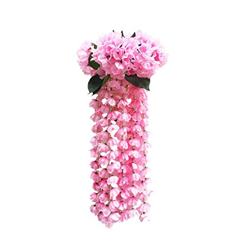 Artificial Flowers Hanging Lifelike Rattan Plant Vine Wedding Home Garden Balcony Floral Decoration