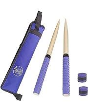 Yiteng 太鼓の達人 マイバチ&収納ケースセット ドラムスティックパッケージ ドラムスティックバッグ 2つ予備グリップテープ付き ポータブル/シングルショルダー 使いやすい 厚くする 複数色