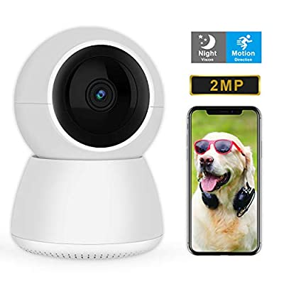Dog Camera, 1080P FHD Home Security Camera WiFi IP Camera with Cloud/SD Card Storage Two-Way Audio Motion Detection Night Vision Remote Monitoring, Pet Camera Baby Elder Monitor