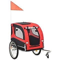 vidaXL fietstrailer voor honden rood zwarte hond transporter hond trailer *