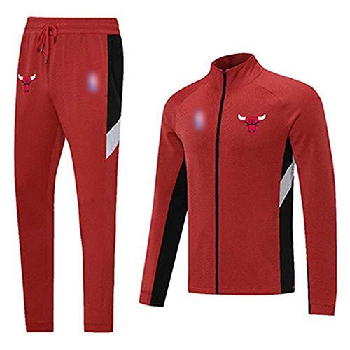 YDYL-LI Juego de chándal de uniforme de baloncesto – Chicago Bulls ropa deportiva con costuras de color de baloncesto con capucha, pantalones de correr, 4XL