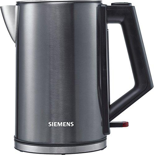 Siemens TW71005 Wasserkocher (1850-2200 Watt, 1,7 Liter, Cordless 360 Grad Basis) edelstahl