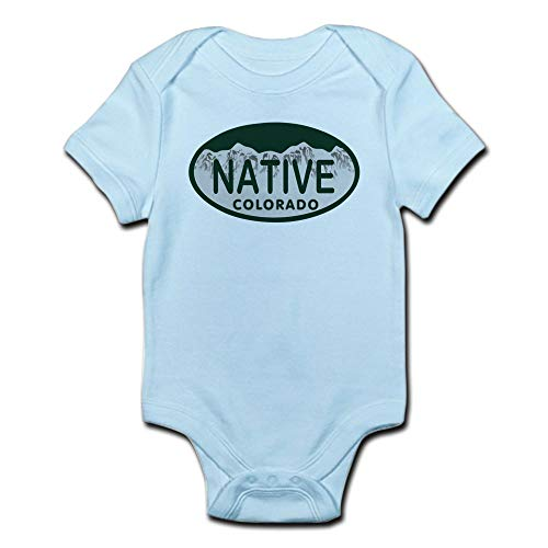 ABADI Native Colo License Plate Infant Bodysuit Baby Bodysuit White