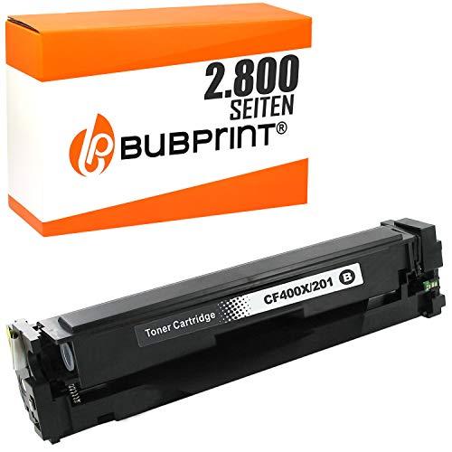 Bubprint Toner kompatibel für HP CF400X 201X für Color Laserjet Pro M252DW M252N M274N M274DN MFP M277DW MFP M277N 2800 Seiten Schwarz