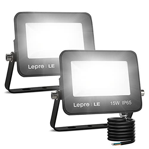 LE Foco LED de 15W, 1300 lúmenes, IP65 resistente al agua, Foco LED Exterior, Blanco Frío 5000 K,...