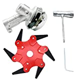 YWNYT 6 Teeth Steel Blades Razors Trimmer Head,65Mn Lawn Mower Grass Weed Eater Brush Cutter with Working Head