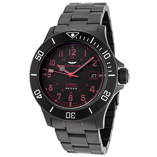Combat 42mm Mens Analog Automatic Watch with Stainless Steel Bracelet GL0080