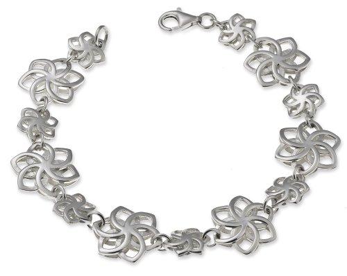 Herr der Ringe/Hobbit Schmuck by Schumann Design Nenya Galadriel Armband aus 925 Silber Flowers