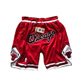 ULIIM Baloncesto Chicago Bulls Pantalón Corto para Hombre,Bulls Shorts Deportivos Retro Swingman M-XXL