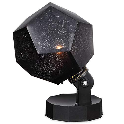 Haude Luz de la Noche Proyector de Estrellas Del Cielo de la LáMpara de Noche de RotacióN 3 LED 3 Colores de ProyeccióN para Dormitorio Bebé,Regalo de Navidad[Clase EnergéTica a +]