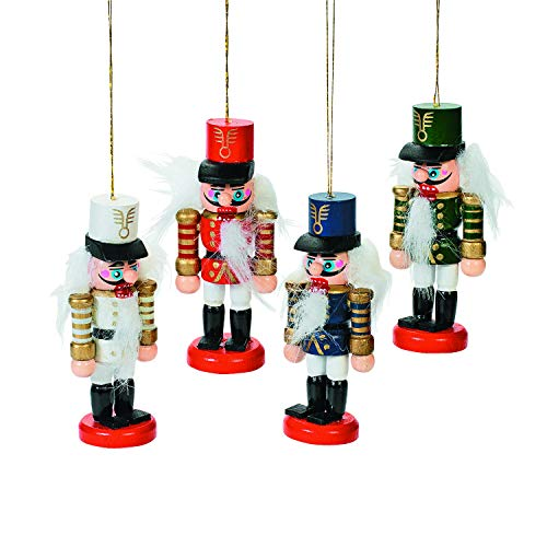 Fun Express Wooden Nutcracker Ornaments (1 dozen) Holiday Decor, Tree Ornaments, Unique Gift Tags