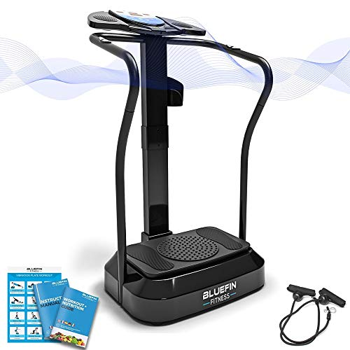 Bluefin Fitness Vibration Platform | Pro Model | Upgraded Design with Silent Motors and Built in Speakers
