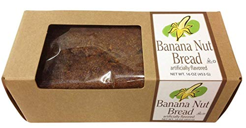 Banana Nut Bread, Traditional American Recipe, Moist with Fine Walnuts Full Pound Loaf in Gift Box
