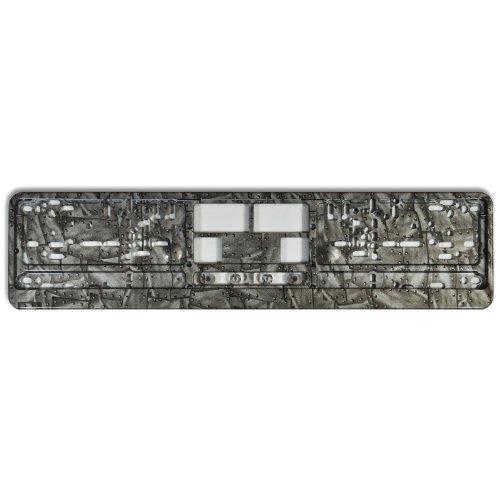 KFZ Kennzeichenhalter Design Nummernschildhalter (Silver Rivet - 40014)